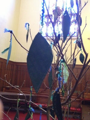 Lenten Healing TreeEach leaf represents a hope for healing.